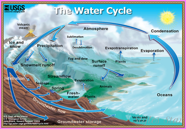 ... Cycle: Graphic showing the movement of water through the water cycle