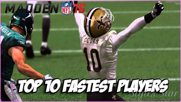 Madden NFL 16 Ultimate Team- TOP 10 FASTEST PLAYERS IN MUT! SPEED ...