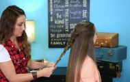 No-Band Bubble Fishtail _ Cute Girls Hairstyles_HD720 11