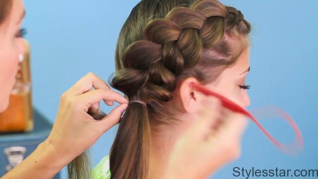 Side Dutch Braid Combo _ Back-to-School Hairstyles_HD720 9