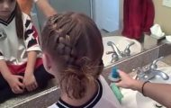 Soccer French Braids _ Cute Girls Hairstyles_360P 15