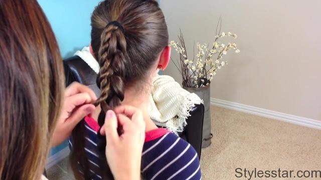 Stacked Twist Ponytail _ Cute Girls Hairstyles_HD720 16