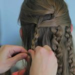 Textured Braids _ Half-Up Half-Down Hairstyles_HD720 14