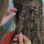 Textured Braids _ Half-Up Half-Down Hairstyles_HD720 17