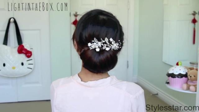 get ready with me wedding edition classic bridal updo 18