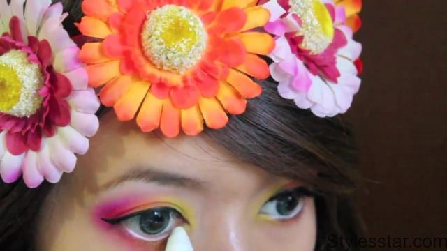 hippie flower child halloween makeup tutorial 19