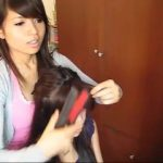 how to cut and style side swept bangs fringe hair tutorial360p 17