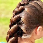 French Knot Braid Hairstyle (36)