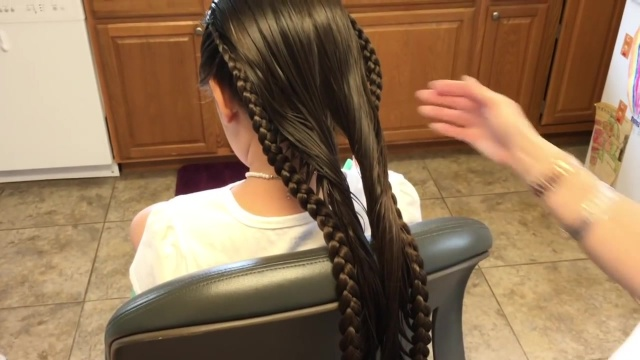 pulled together laced braid 34