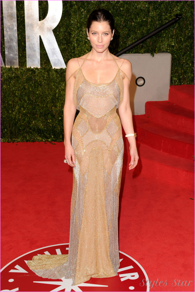 Oscar Party Fug Carpet: Jessica Biel