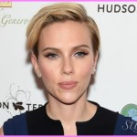 Scarlett Johansson's hair keeps getting shorter.