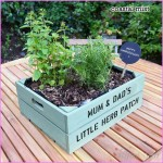 Personalised Medium Planter Crate | Crates, Herbs and Seeds